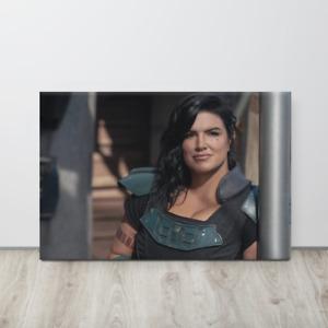 "16""X24"" Cara Dune Star Wars Mandalorian HD Printed Canvas Poster With Wood Frame"