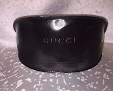 Gucci Hard Leather Sunglasses Eyeglass Glasses Lenses Case Frames Black Holder