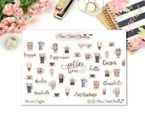 Kawaii Coffee Time Planner Stickers