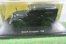 RENAULT JUVAQUATRE La Poste 1946 Vert 1/43 EDITION ALTAYA voiture miniature