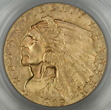 1929 $2.50 Indian Gold Coin, PCGS Genuine (BU)