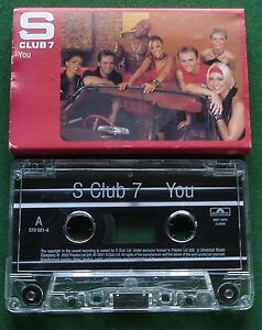 S Club 7 You Cassette Tape Single - TESTED