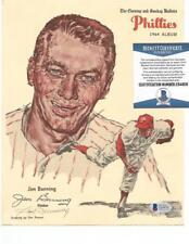Jim Bunning d.2017 signed 1964 Bulletin Phillies auto autograph BAS baseball HOF