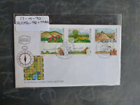 1990 ISRAEL NATURE RESERVES IN ISRAEL SET 3 STAMPS W/- TAB FIRST DAY COVER
