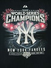 NEW YORK YANKEES 2009 WORLD SERIES CHAMPIONS NAVY BLUE XL YOUTH T-SHIRT B1422