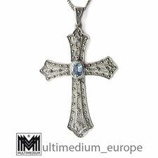 Jugendstil Silber Kreuz Anhänger Markasit Topas silver cross pendant 🌺🌺🌺🌺🌺