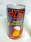 OUR beer older metal can Huber brewing company since pull tab 1848 WI 12 oz BE7