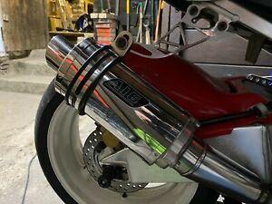 HONDA CBR 929 Fireblade A16 Stubby Exhaust Can & ART Exhaust Hanger 2000/2003