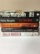 Phillip Margolin Lot Of Five hardback Wild justice ties that bind fugitive