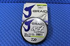 PE Line J-Braid X4U 30-135Y Flourescent Yellow 30lb 150yd By Daiwa 4000-2006