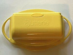 Butterie Flip Top Butter Dish Yellow w/o Spreader Pre-owned