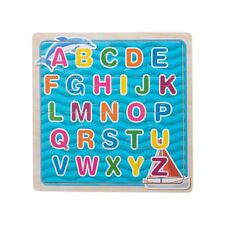 Eliiti Wooden Alphabet ABC Jigsaw Puzzle for Kids 4 to 6 Years Old Boys Girls