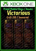 DIABLO 3 ROS - XBOX 1- FULLY PRIMAL MODDED RINGS AND AMULET - VICTORIOUS - LOOK!