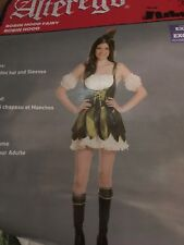 NEW Sexy Robin Hood Dress w/ Feather Hat Halloween Costume Adult SMALL