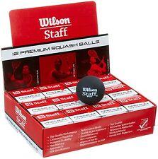 ENSEMBLE DE SIX (6) Wilson Staff Squash, balles couleur au choix pointillé