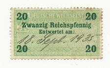 Stamp Germany Revenue Deutsche Wechselsteuer  Bill Exchange 020P 1935 RARE USED