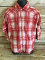 Panhandle Slim Pearl Snap Shirt Size Small Girl Long Sleeve Plaid Western Top