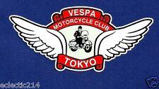 VESPA MOTORCYCLE CLUB TOKYO VINYL DECAL / STICKER LAMBRETTA SCOOTER JAPAN