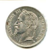 5 francs argent Napoléon III 1868 A n°E872
