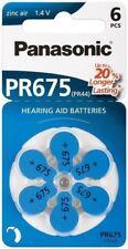 Panasonic 6x Hearing Aid PR44V675/PR44 PR675PR675 zinc-air hearing aid cell 1.4V