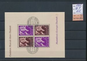 LN73300 Belgium 1937 queen Elisabeth good sheet used cv 45 EUR