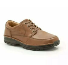 Clarks Men's Active Air Shoes SIDMOUTH MILE Brown Leather UK 10 H Wide Fit