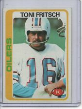 1978 TOPPS #164 TONI FRITSCH, HOUSTON OILERS... FREE SHIPPING