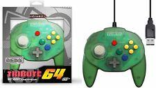 Retro-Bit Tribute N64 USB Controller for PC/Mac, Nintendo Switch - Green NEW
