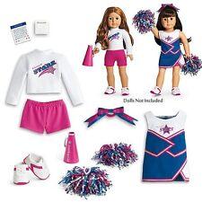 💕 auténticos americano chica Muñeca 2 en 1 Juego De Deportivo Cheer Gear Pompones devolvérselo Caja 💕