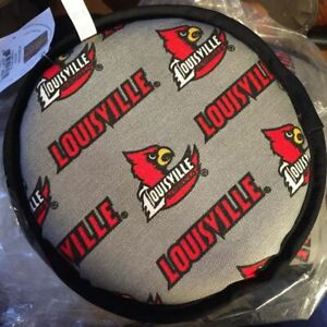 Pup Rally Fleece Louisville Cardinals Licensed Flyer Dog Toy Flying Disc Squeaky