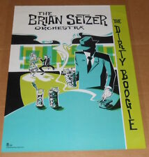The Brian Setzer Orchestra The Dirty Boogie Poster Original 1988 Promo 18x24