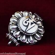 Amuleto Para Abrir ELEGANTE Tibetanos Gau Medallón joyería plata Lotus Nepal
