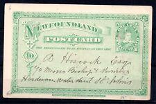 Newfoundland 1898 1c Edward postcard WS9865