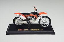 KTM 450 SX-F Escala 1:18 Negro Naranja Modelo De Motocicleta von Maisto