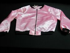 Charades Pink Satin Ladies Jacket size large ~ 8542