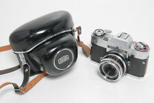 Zeiss Ikon Voigtländer Icarex 35S incl Tessar 2,8 50mm and Leather Bag #280