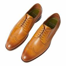 BNIB OLIVER SWEENEY MENS TAN LEATHER DERBY LACE UP SHOES UK 8 EU 42 RRP £325