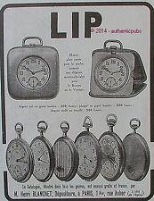 PUBLICITE LIP MONTRE PLATE CARRE CHEVALET GOUSSET DE 1924 FRENCH AD WATCH PUB