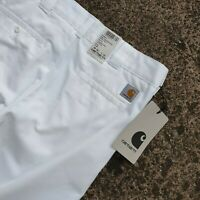Carhartt WIP Mather Pant 8.8oz Rinsed Dennis Twill Relaxed Tapered W30 L32 White