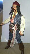 "Johnny Depp as CAPTAIN JACK SPARROW 18"" Disney Talking Doll ""Dead Man's Chest"
