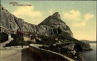 Gibraltar Postkarte AK ~1910 Governor's Cottage Wohnhaus Statthalter ungelaufen