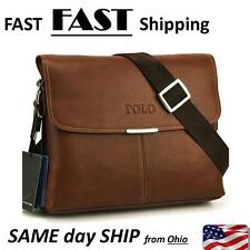 Men's Leather Travel Hiking Messenger Shoulder Bag Vintage Briefcase Laptop Bags
