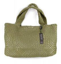 Falor Olive Green Woven Italian Lea