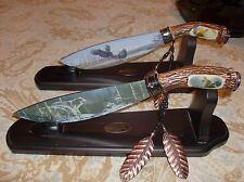 Cherokee Reservation Souvenirs Cherokee North Carolina Nc 2 HAND PAINTED KNIFES