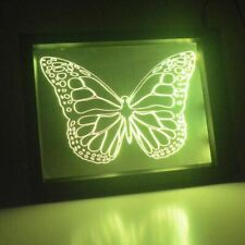 Detailed Butterfly Colour Changing RC LED Mirror Light Frame
