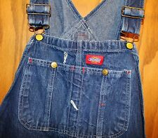 Dickies Blue Jeans Denim Overalls Size 40W x 32L Work Pants Coveralls Zipper Fly