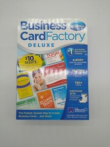 Business Card Factory Deluxe, Version 4, Windows DVD-ROM Nova SEALED Retail Box