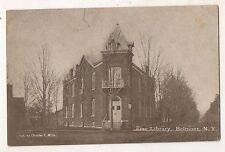 Free Library, BELMONT NY Vintage Allegany County New York, Amity Postcard
