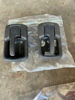 PORSCHE 944 924 DOOR HANDLES AND BEZELS INTERIOR Black