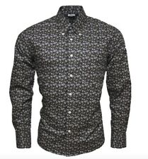 RELCO MENS FLORAL RETRO BUTTON DOWN COLLAR 100% COTTON SHIRT Long Sleeve Sm-3XL